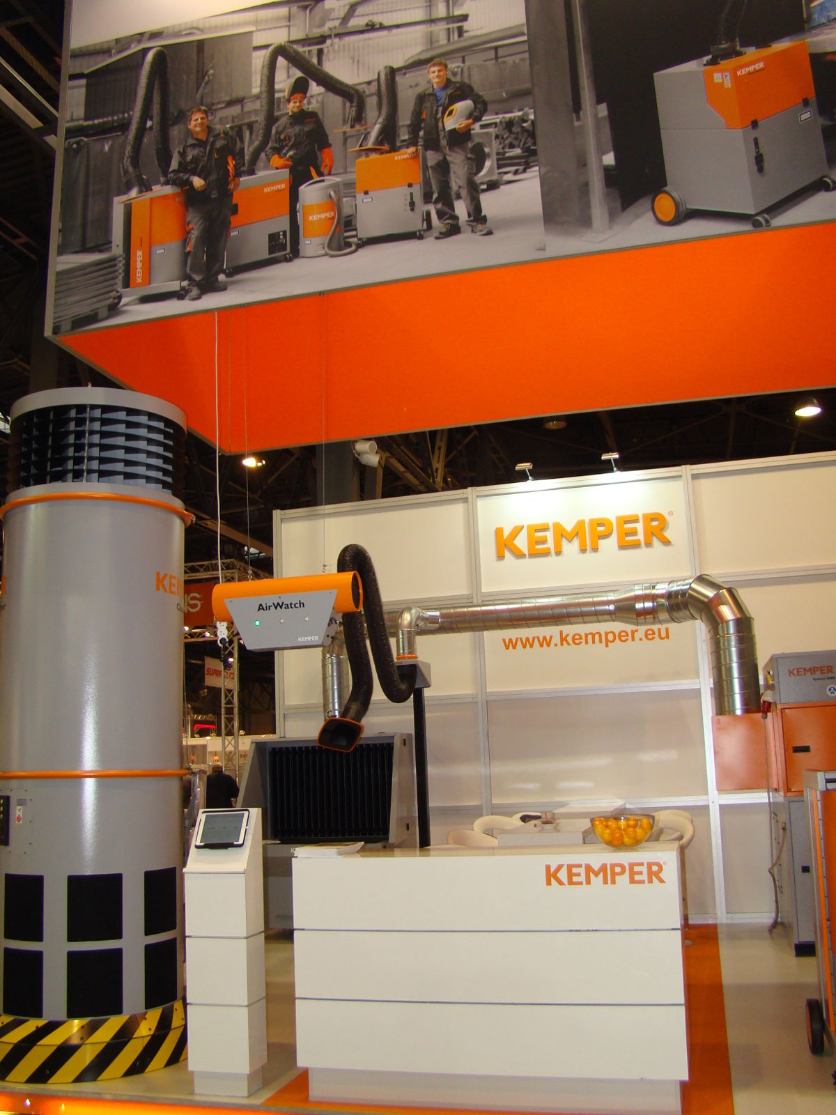 Targi Spawalnicze EXPOSilesia - KEMPER wieża filtracyjna