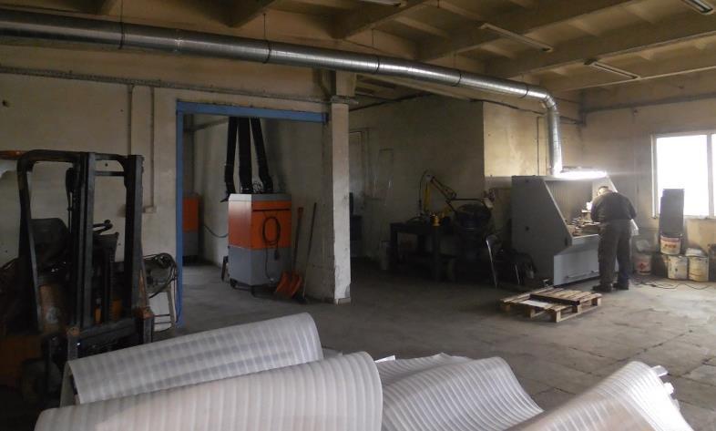 Przykład zastosowania stołów szlifierskich wraz z systemem filtrowentylacji