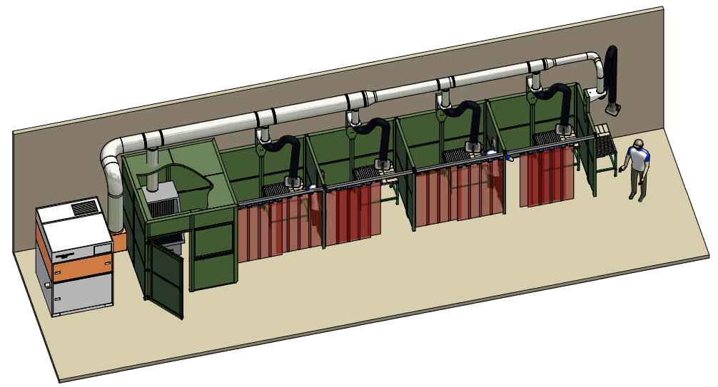 stół szlifierski - przykład konfiguracji