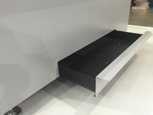 Stół szlifierski - szuflada na pyły