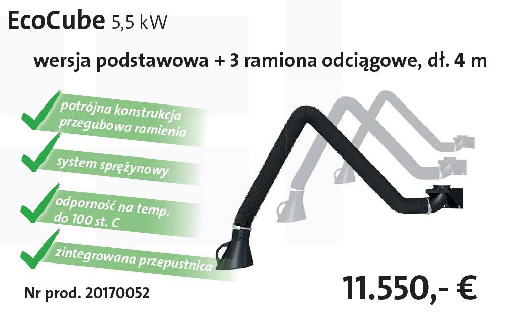 EcoCube + 3 ramiona odciągowe