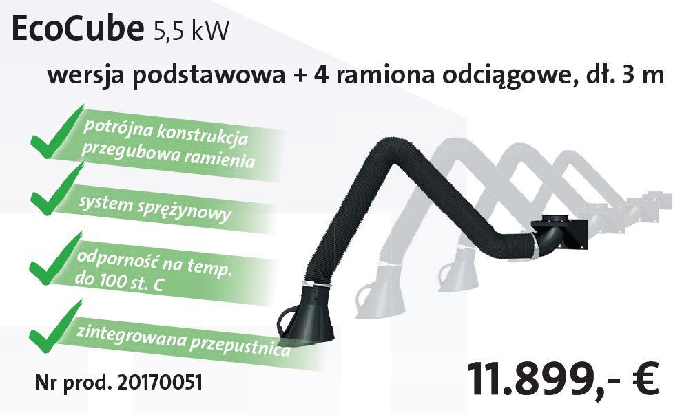 EcoCube + 4 ramiona odciągowe