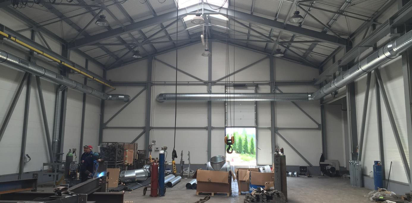 filtrowentylacja hali przemysłowej - przykład realizacji