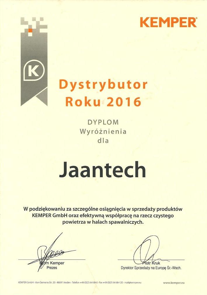KEMPER dystrybutor roku 2016