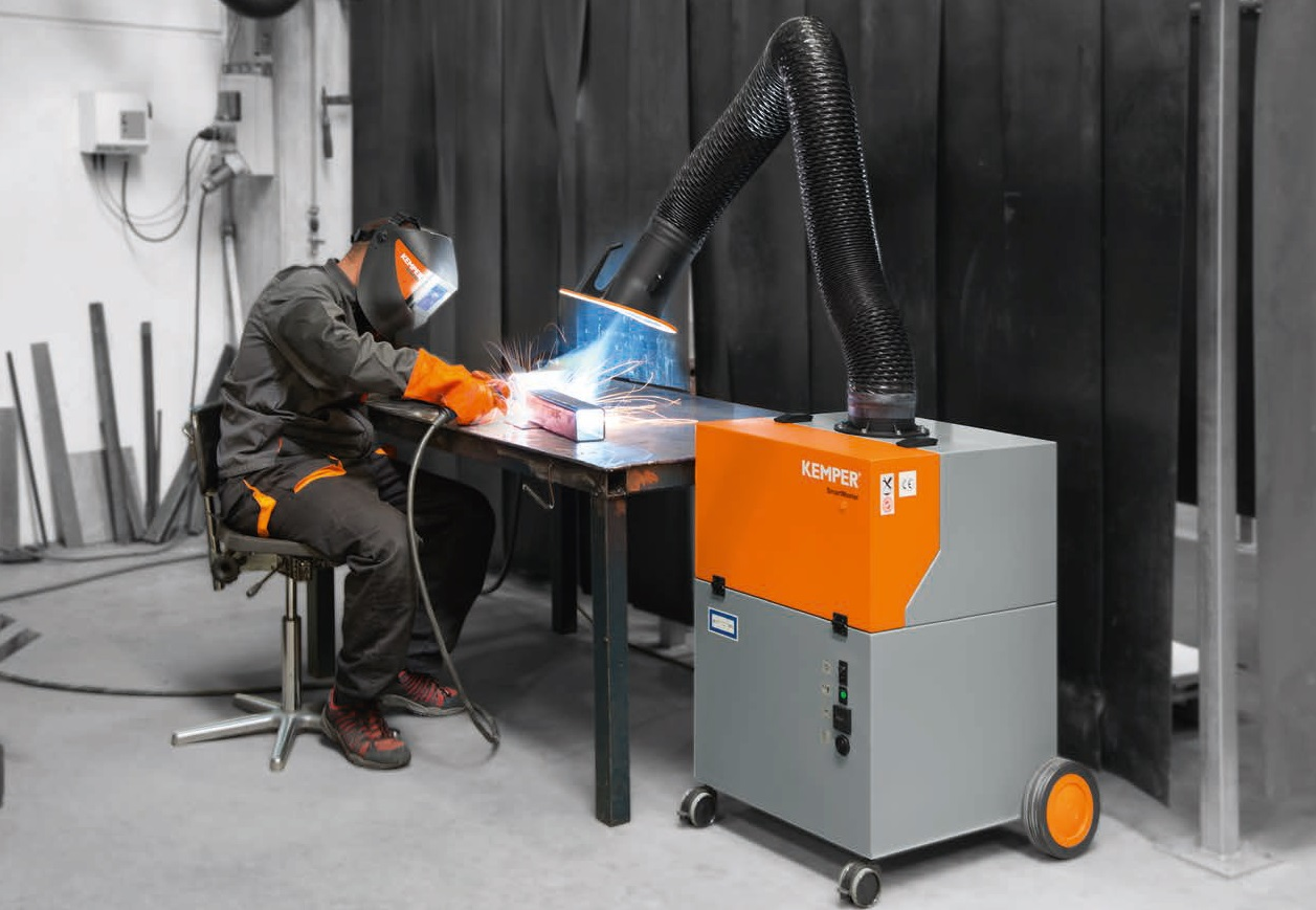 przejezdny filtr mechaniczny w trakcie pracy